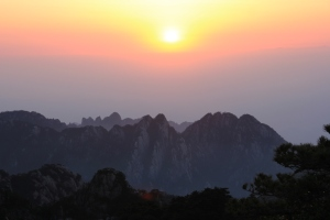 Sunrise over Mt. Huangshan