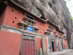 Temples in the mountainside