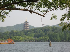 The view from an island in West Lake, Hangzhou