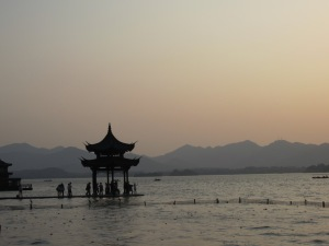 Sunset over West Lake, Hangzhou