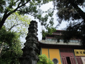 The Buddhist temple and caves in Hangzhou