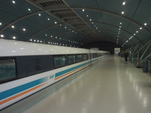 The Maglev Train. Super clean, super fast.
