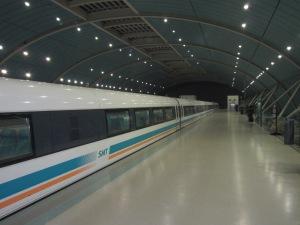 The Maglev Train. Super clean, super fast.