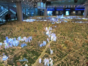 Jaw-dropping model of Shanghai at the Shanghai Urban Planning Center. Makes NYC look small.