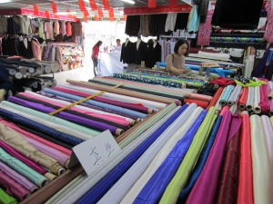 Oceans of fabric at the tissue market
