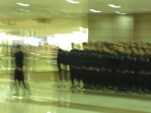Sorry for the blurry picture of police cadets, I was nervous about whether it was okay to snap photos of them so I didn't stop or adjust the flash
