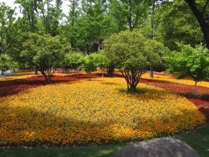 Flower beds, Daning-Lingshi Garden