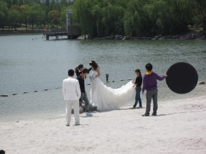 Wedding photos at Daning-Lingshi Garden,  Shanghai