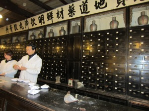 Old-fashioned Chinese apothecary