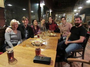 Some of my friends at the Lucky Lab on Hawthorne for my 34th birthday celebration.