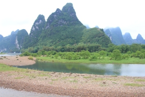 Lush scenery along the Li River