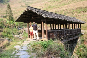 Traditional wooden bridge