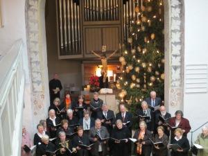 The choir in St. Michael's Church in Winterbach