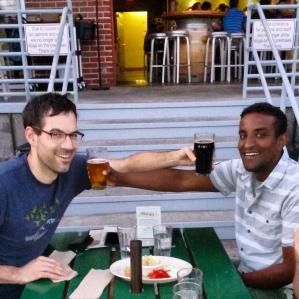 Presenting pale ale and dark ale.