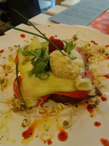 Raw lasagna at Rayen Vegano